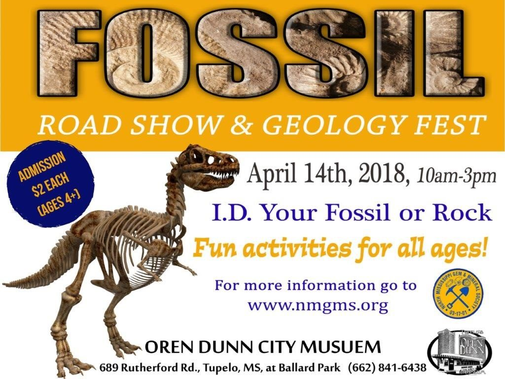 Geology Fest and Fossil Road Show @ Oren Dunn City Museum | Tupelo | Mississippi | United States