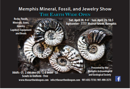 Memphis Mineral, Fossil, and Jewelry Show @ Agricenter International | Memphis | Tennessee | United States